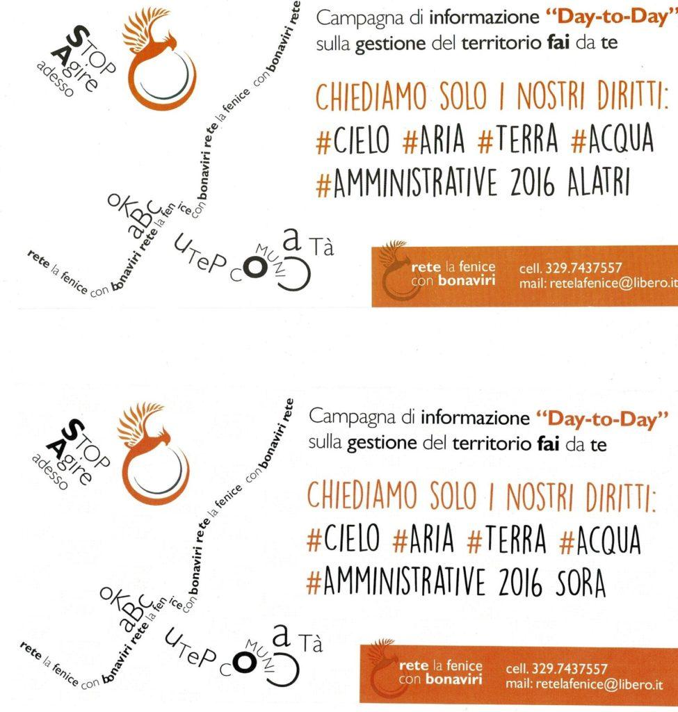 Chiediamo solo i nostri diritti: #cielo #aria #terra #acqua #amministrative 2016 Alatri – Sora – Frosinone – Ceccano