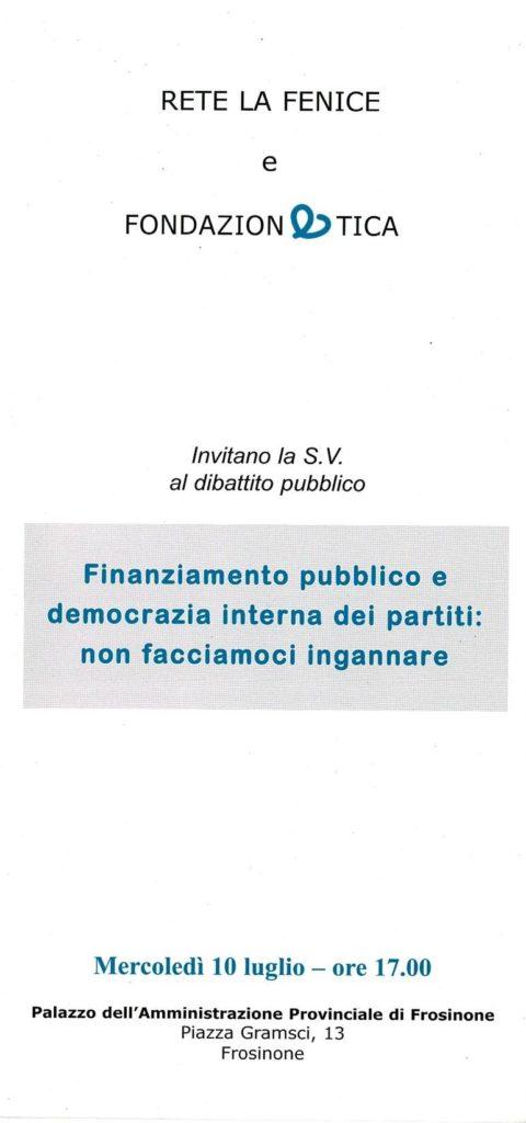 Finanziamento pubblico e democrazia interna dei partiti: non facciamoci ingannare
