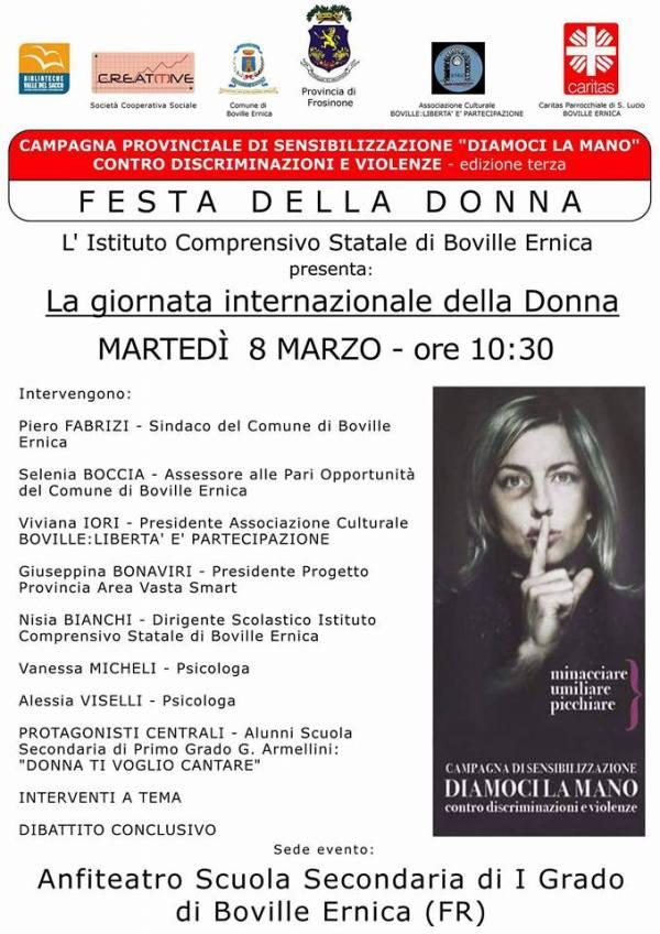 """A Boville Ernica """"Diamoci la Mano"""", la campagna di sensibilizzazione contro discriminazioni e violenze"""